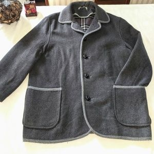 Vintage Burberrys' Dark Grey Wool Duffle Coat 44IT